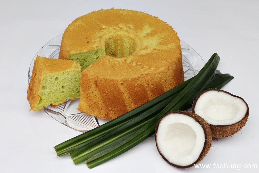 Pandan Chiffon Cake ist super lecker!
